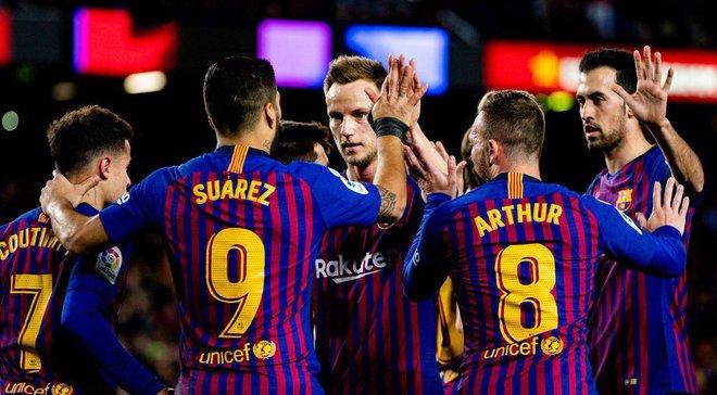 Барселона разгромила Эйбар и возобновила 5-очковое преимущество над Атлетико