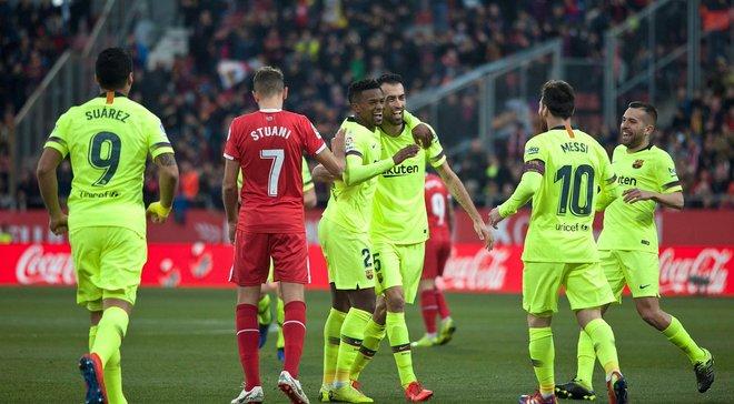 """Барселона победила Жирону в """"Малом каталонском дерби"""" и восстановила отрыв от Атлетико"""
