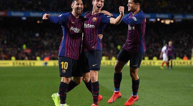 """Барселона знищила Севілью та вийшла у півфінал Кубка Іспанії: """"ремонтада"""" суперкоманди та черговий перфоменс Лео Мессі"""