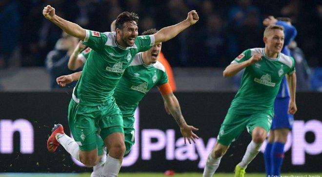 Писарро стал самым возрастным автором гола в Бундеслиге, на 90+6 спасши Вердер от поражения в матче с Гертой