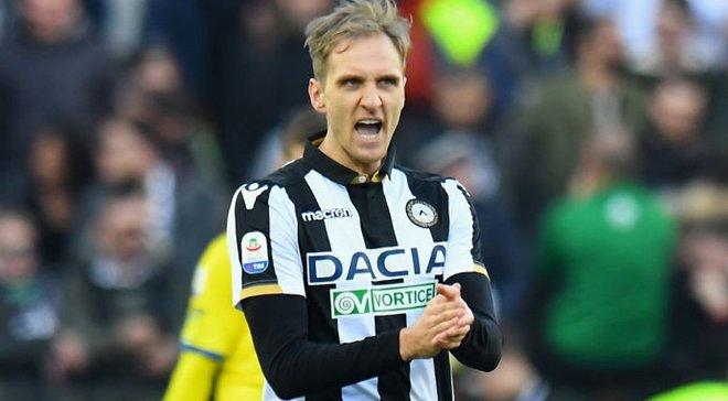 Теодорчик забил дебютный гол за Удинезе -это его первый гол за 9 месяцев