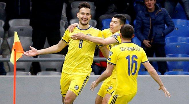 Казахстан красиво забил премьерный мяч квалификации Евро-2020