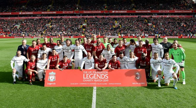 Ліверпуль переміг Мілан у матчі легенд: на поле вийшли Джеррард, Кака, Мальдіні та інші – потужна доза ностальгії