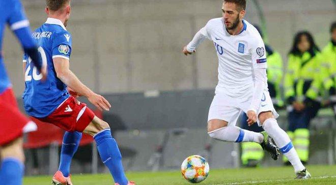 Лихтенштейн – Греция – 0:2 – видео голов и обзор матча