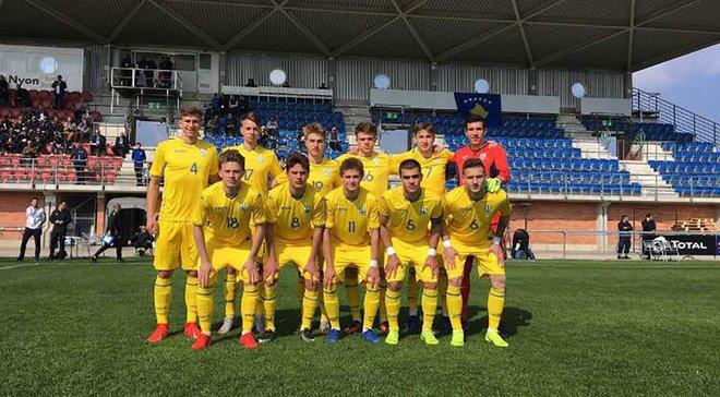 Сборная Украины U-17 в меньшинстве уступила Греции в матче отбора к Евро-2019