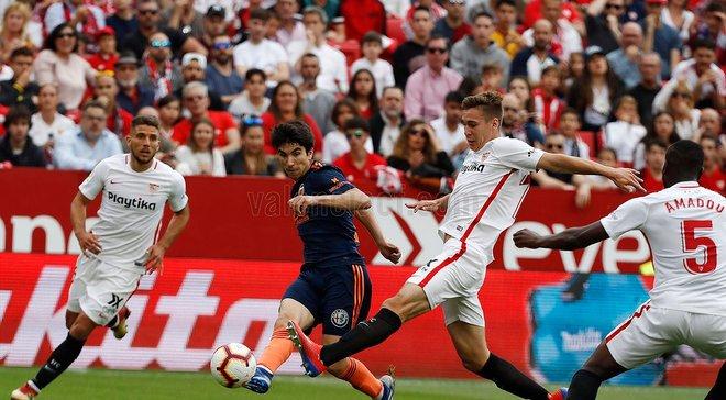 Севилья уступила Валенсии на своем поле: 29-й тур Ла Лиги, матч воскресенья