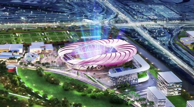 Клуб Бекхема показав проект нового стадіону