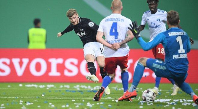 РБ Лейпциг вышел в финал Кубка Германии, уверенно одолев Гамбург