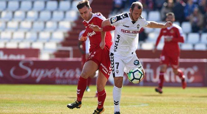 Зозуля відзначився дублем та асистом за Альбасете в першому матчі після дискваліфікації