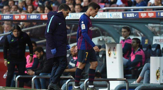 Коутинью получил повреждение и может пропустить финал Кубка Испании