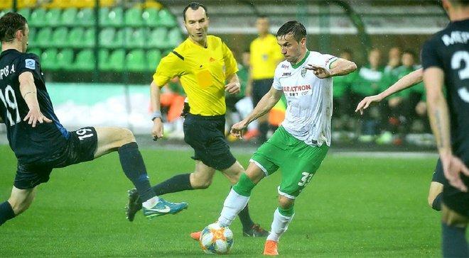 Карпаты – Десна: Мякушко забил феноменальный гол со штрафного