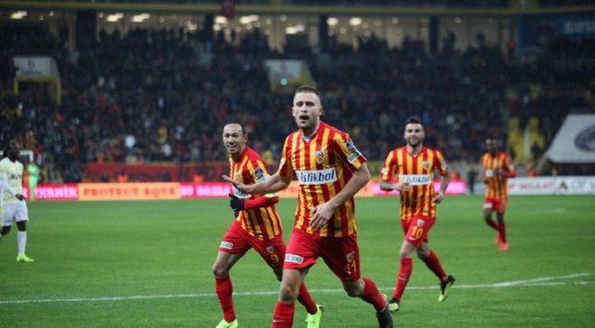 Кравец голом, а Кучер ассистом спасли свою команду от поражения в чемпионате Турции