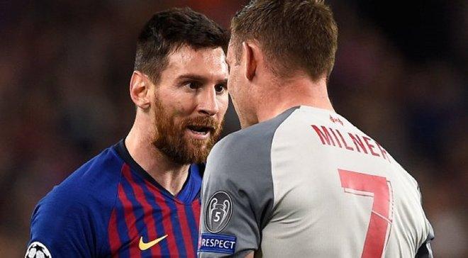 """""""Мессі назвав мене ослом"""", – Мілнер захоплюється грою форварда Барселони"""