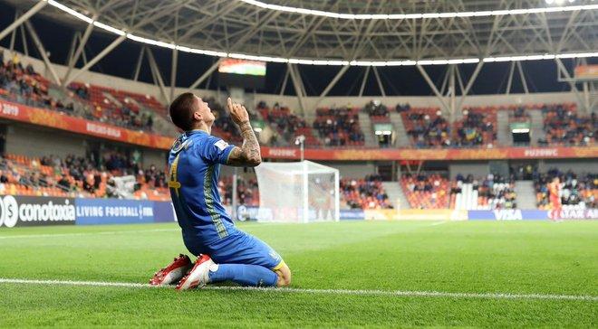 Попов второй раз подряд стал лучшим игроком сборной Украины U-20 в матче чемпионата мира-2019