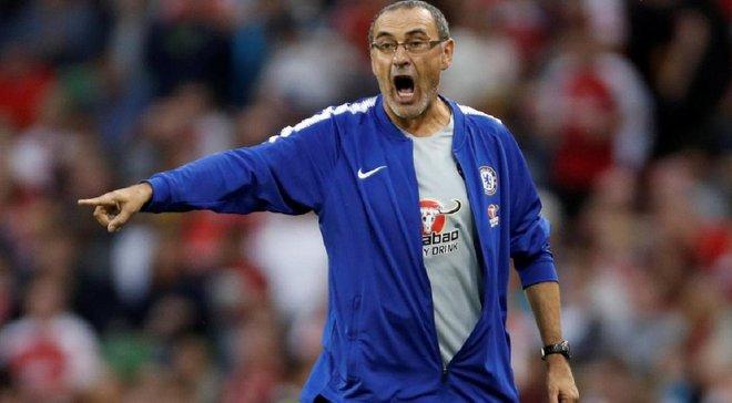 Сарри психанул и покинул тренировку Челси перед финалом Лиги Европы