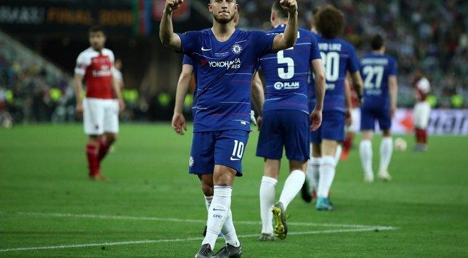 Азар – первый за 28 лет футболист, отметившийся дублем за английский клуб в финале еврокубка