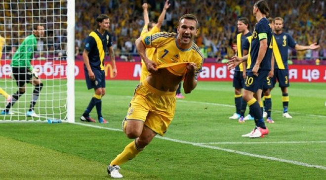 Рівно 7 років тому Шевченко відзначився дублем у воротах Швеції на Євро-2012 – ретро дня