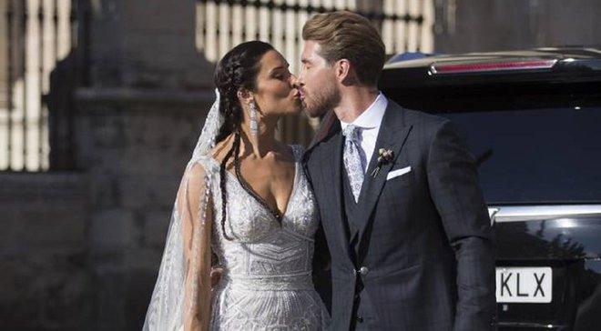 Рамос официально женился на Пилар Рубио – на свадьбе побывало немало звездных футболистов
