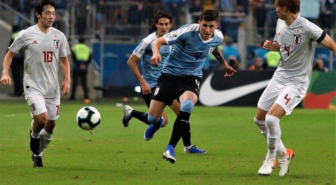 Великолепный гол Хименеса в видеообзоре матча Уругвай – Япония – 2:2