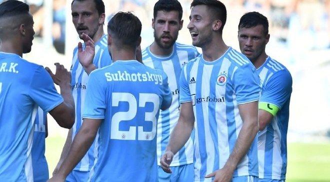 Сухоцький допоміг Словану перемогти Феронікелі у другому кваліфікаційному раунді Ліги Європи 2019/20