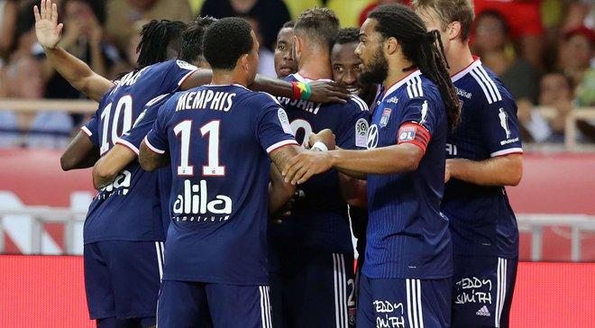 Лион в большинстве разгромил Монако в матче-открытии французской Лиги 1