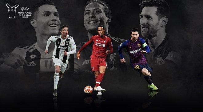 Мессі, Роналду та ван Дейк – претенденти на нагороду гравця сезону 2018/19 від УЄФА