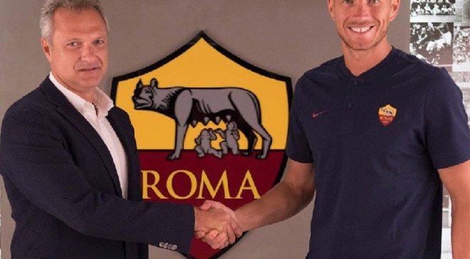 Джеко подписал новый контракт с Ромой