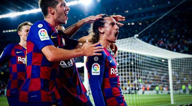 Дебютний дубль Грізманна і феєрія голів у відеоогляді матчу Барселона – Бетіс – 5:2