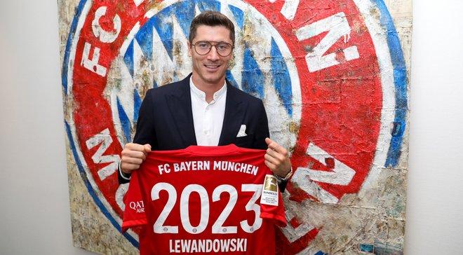 Лєвандовскі підписав новий довготривалий контракт з Баварією