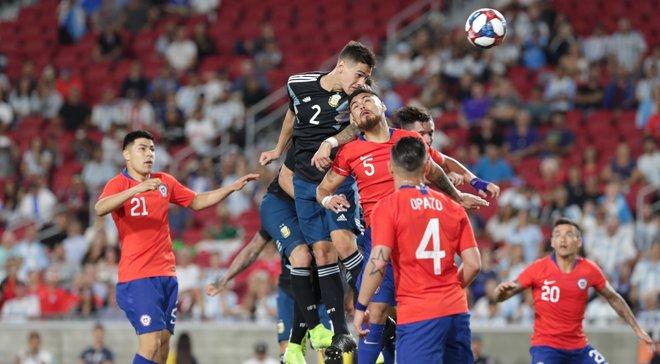 Аргентина без Месси не смогла одолеть Чили в товарищеском матче