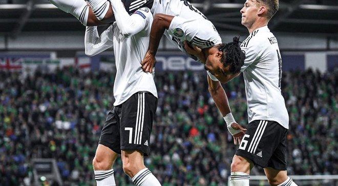 Северная Ирландия – Германия – 0:2 – видео голов и обзор матча