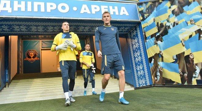 """Україна– Нігерія: Дніпро-Арена встановила рекорд за відвідуваністю відкритого тренування """"синьо-жовтих"""""""
