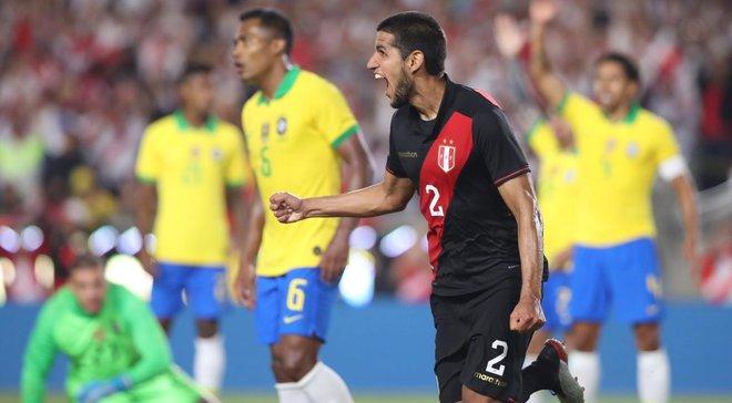 Перу с Самбрано в составе переиграла сборную Бразилии