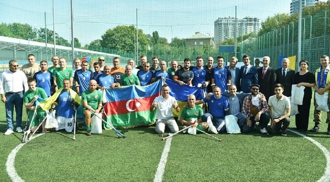 Ветерани бойових дій України й Азербайджану зіграли товариський матч з ампфутболу