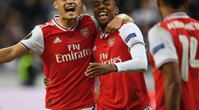 Ліга Європи: Арсенал розбив Айнтрахт, Селтік без Шведа розписав нічию з Ренном, Лаціо несподівано програв Клужу