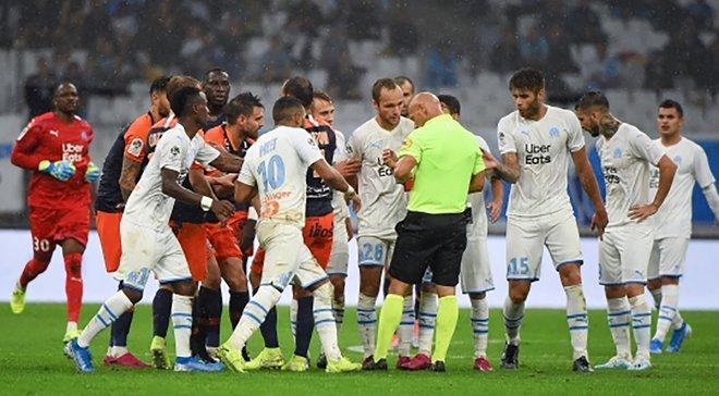 Лига 1: Марсель вдевятером удержал ничью в игре с Монпелье, Монако не смог одолеть Реймс