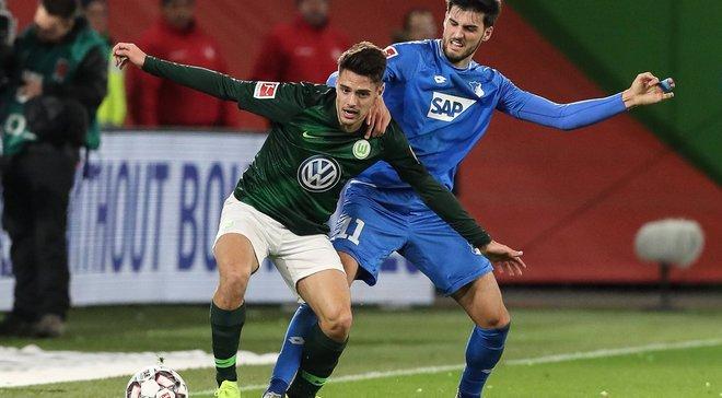 Вольфсбург в красивом матче сыграл вничью с Хоффенхаймом
