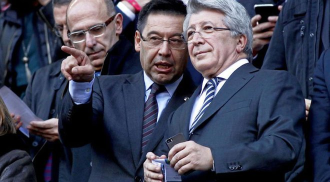 Президент Атлетико вызвался оплатить штраф Барселоны по делу Гризманна