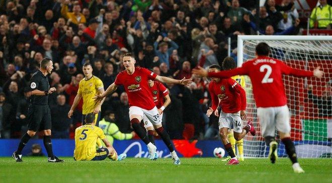 Манчестер Юнайтед – Арсенал: Мактомінай відкрив рахунок розкішним голом