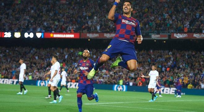 """Барселона знищила Севілью: топ-атака """"блаугранас"""" без оборони, слабкодухість нервіонців, зіркові голи Суареса та Мессі"""