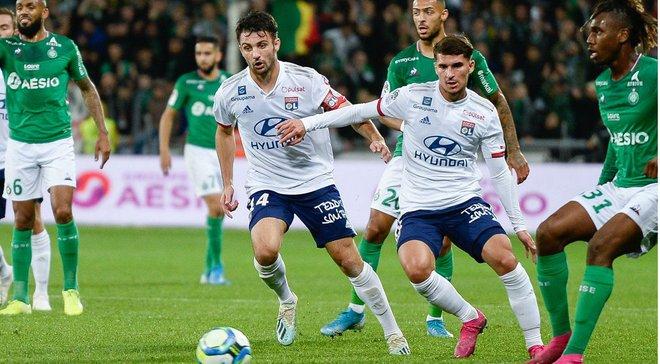 ЛІга 1: Сент-Етьєн на останній хвилині переміг Ліон у Ронському дербі, Лілль втратив очки з Німом