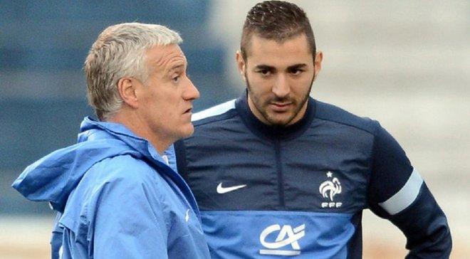 Дешам резко прокомментировал отсутствие Бензема в сборной Франции