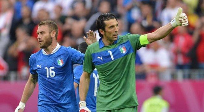 Манчини готов вызвать Буффона и Де Росси в сборную Италии