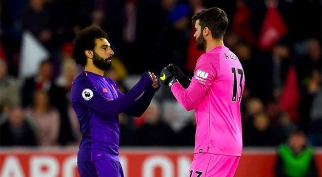 Ліверпуль зможе розраховувати на Салаха та Аліссона у матчі проти Манчестер Юнайтед