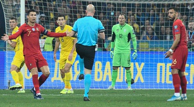 Украина – Португалия: экс-арбитр ФИФА оценил спорный эпизод с пенальти и удалением Степаненко