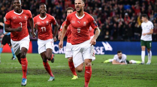 Евро-2020, отбор: Швейцария переиграла Ирландию, Румыния расписала ничью с Норвегией, Греция шокировала Боснию