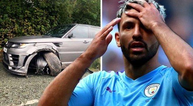 Агуэро попал в ДТП – машина форварда Манчестер Сити разбита