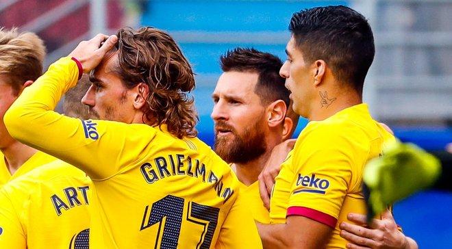 Гризманн отметил улучшение своего взаимодействия с Месси и Суаресом – звездное трио Барселоны разорвало Эйбар