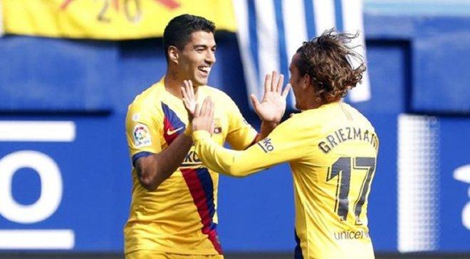 Шикарний виступ Мессі, Грізманна та Суареса у відеоогляді матчу Ейбар – Барселона – 0:3