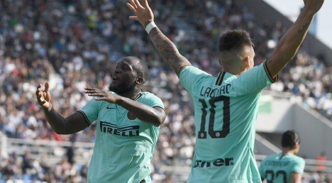Дебютный дубль Лукаку в Серии А в видеообзоре матча Сассуоло – Интер – 3:4